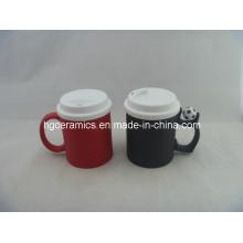 Tasse de changement de couleur avec couvercle en silicone