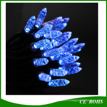 50 синий светодиодный свет сосульки форме клубники солнечный свет строки