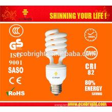 CHAUD! 12MM 45W 5500K SPIRALE ÉPARGNE LAMPE CFL-STUDIO 10000H CE QULITY