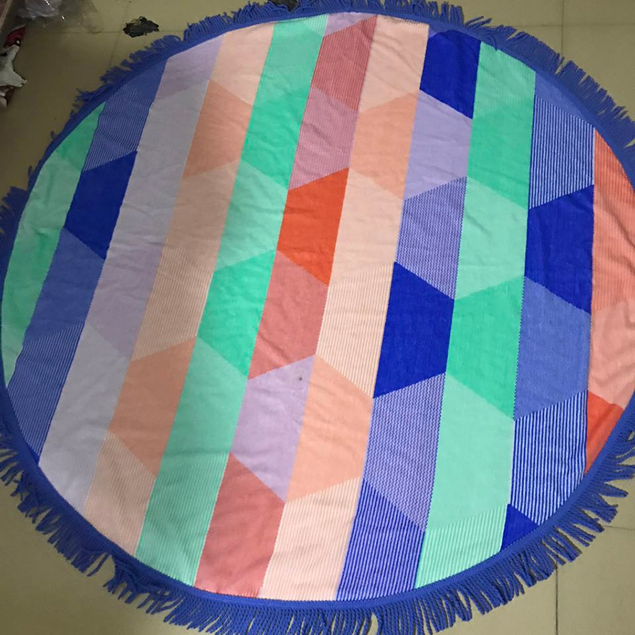 round beach towel wholesale