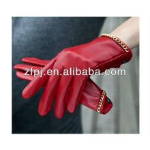 Fashional invierno nuevo rojo tendencia señoras guantes