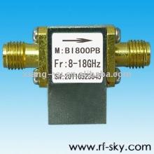 BI800PB_8-18G haute qualité 8-18 GHz RF haut débit isolateur SMA / N connecteur
