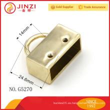 Tapón de extremo de cable metálico, pieza de unión metálica para bolsos mango