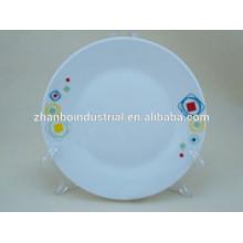 Placa de jantar de porcelana tamanhos diferentes em design de cores