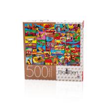 Juegos para adultos personalizado personalizado 500 rompecabezas de papel