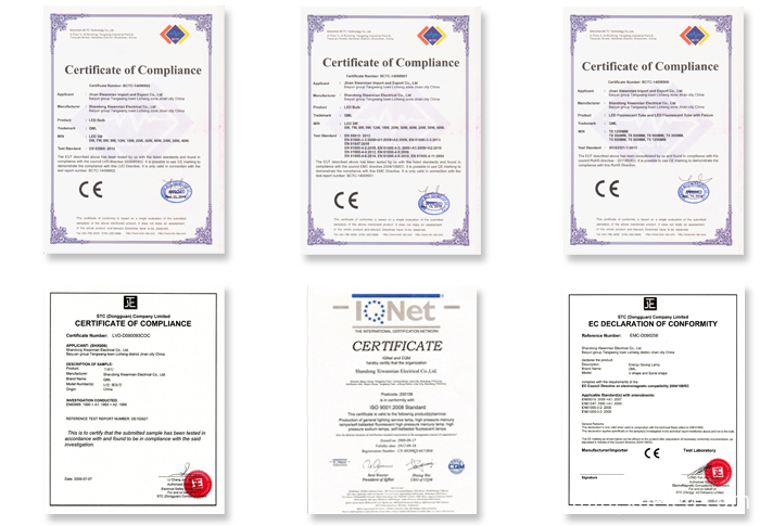 led strip certificates