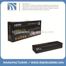 16 port Splitter HDMI, HDMI Splitter 1X16, HDMI V1.4, support 4K*2K, 3D, Full HD 1080P, engineering machine!
