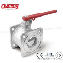 Квадратный фланцевый шаровой кран из нержавеющей стали (Q41F-16P)