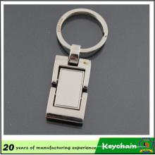Chaveiro de Metal quadrado em branco clássico