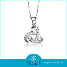 Rhodium Überzug Sterling Silber Rhinestone Choker Halskette