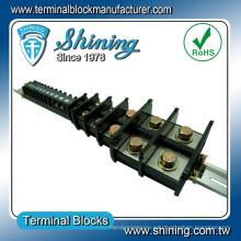 TA-200 35mm DIN Rail montado 600V 200 Amp barra de barra Conector de alambre