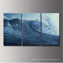 Handmade Seascape Art Wave Oil Painting (SE-199)