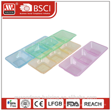 Cheaper Plastic with three grid rectangle plate