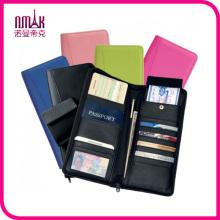 Zip Around Leather Travel Passport Wallet Executive Organizer Boarding Pass Card Holder (w-18)