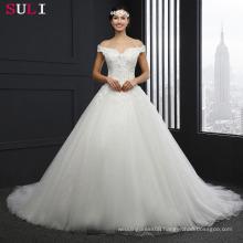 Q023 Cheap Long Off Shoulder Beading Lace Wedding Dresses 2016