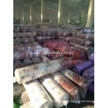 Stock 100% polyester printed fabric