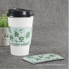 Disposable Printed Custom Hot Coffee Sleeve Cup Sleeve