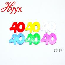 HYYX оптом дешевые Таблица конфетти/40-й день рождения вечеринки конфетти для украшения