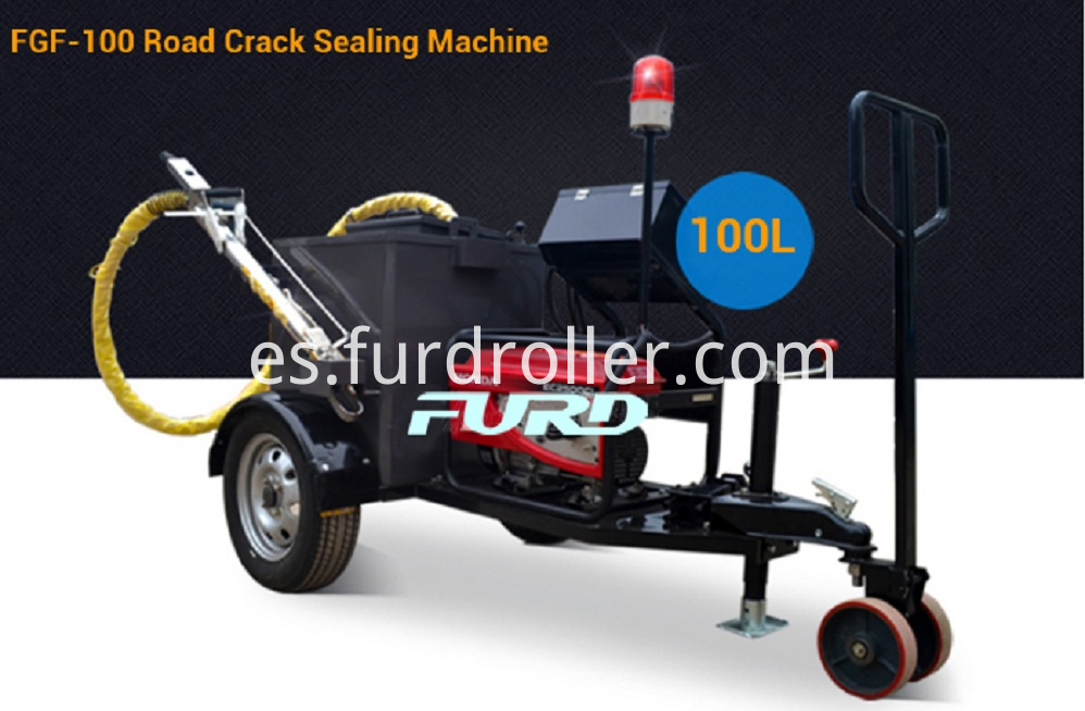 100l Asphalt Crack Sealing And Pavement Repair Machine Adopts Italy Diesel Burner Mainly Used For Irregular Cracks Of Asphalt Pavement Concrete Pavement Bridge Expansion Joints Sewer Gas Pipe Buried And Paving Road Links Waterproof Processing