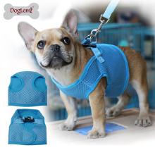 Preço de fábrica Coleira de Cachorro Leash Malha Levou Coleira de Cachorro Macio E Confortável Coleira Arnês Pet