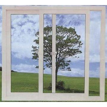 Économiseur d'énergie double PVC en plastique / UPVC fenêtre de verre coulissante