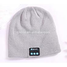 PK18ST016 plaine tricoté unie couleur sans fil écouteurs chapeaux