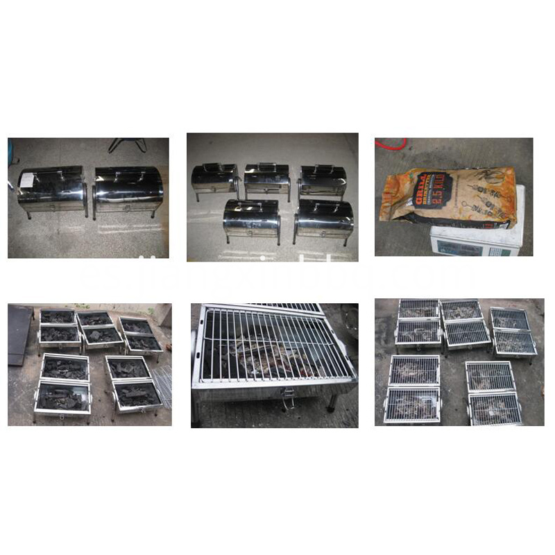 Stainless Steel Brother Charcoal Grill Burning Testing