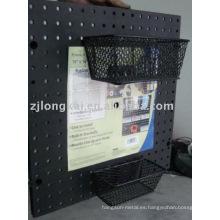 Fábrica de proveedor de muestra gratuita de metal de malla de oficina decorativos documento pantalla canasta