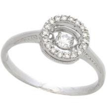 Heiße Art- und Weiseschmucksachen 925 silberne Tanzen-Diamant-Ring-Schmucksachen