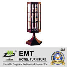 Einzigartiges Glasfenster Design Wooden Dekorative Weinschrank (EMT-DC08)