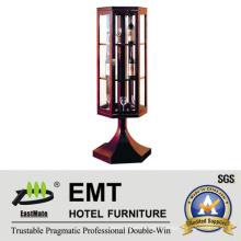 Unique Glass Window Design Wooden Decorative Wine Cabinet (EMT-DC08)