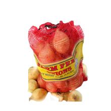 Mesh Bag With Custom Logo 100% Raw Material Plastic Fruit Vegetable PP Mesh Fruit Packing Mesh Bag
