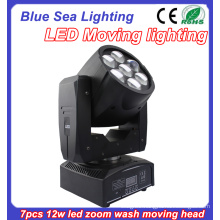 dj light disco party lighting 7pcs x 12w led beam moving head wash light