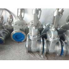 Válvula de porta de aço inoxidável da flange para o gás e a água de óleo (Z41F)