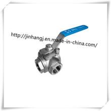 Нержавеющая сталь 3-ходовой шаровой кран, трехпортовая шаровая рукоятка T-Port