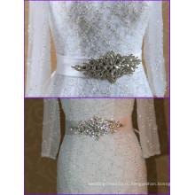 Новейший Кристалл Съемный свадебный пояс для свадебное платье