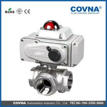 3-ходовой L и T-тип электрический приводной шаровой кран для оборудования для воды, системы автоматического управления водой