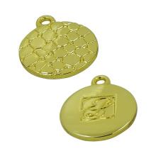 Gold Round Crocodile Veins Cremallera Extractor