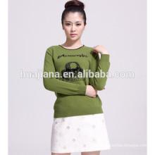 women's cashmere intarsia sweater