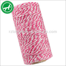 Multi colored cotton rope for bakers twine string for DIY ornaments