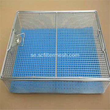 Stanless Steel Wire Mesh Storage Korgar med lock