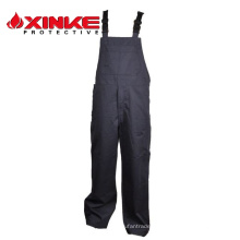 Pantalones de babero ignífugos de algodón NFPA70E para ropa protectora FR