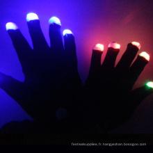 gants luminescents - gants allumés à led