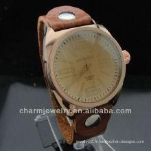 2014 Meilleur cadeau Bracelet en cuir véritable Montres Lovers WL-028