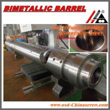 Bimetall-Spritzgussschnecke und -zylinder im Schleuderguss