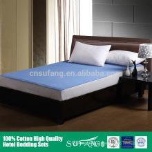 2016 nueva cubierta impermeable lavable azul del protector del colchón acolchado
