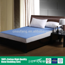 2016 new washable blue quilted mattress protector waterproof cover