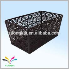 WIDENY marca colorido polvo cubierto de alambre de metal triangular cesta de almacenamiento de hierro