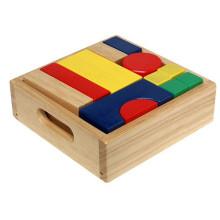 Hochwertige Intelligenz entwickeln Holzbausteine Spielzeugkiste
