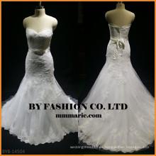 Nuevo vestido de boda de la sirena del amor del cordón BYB-14504
